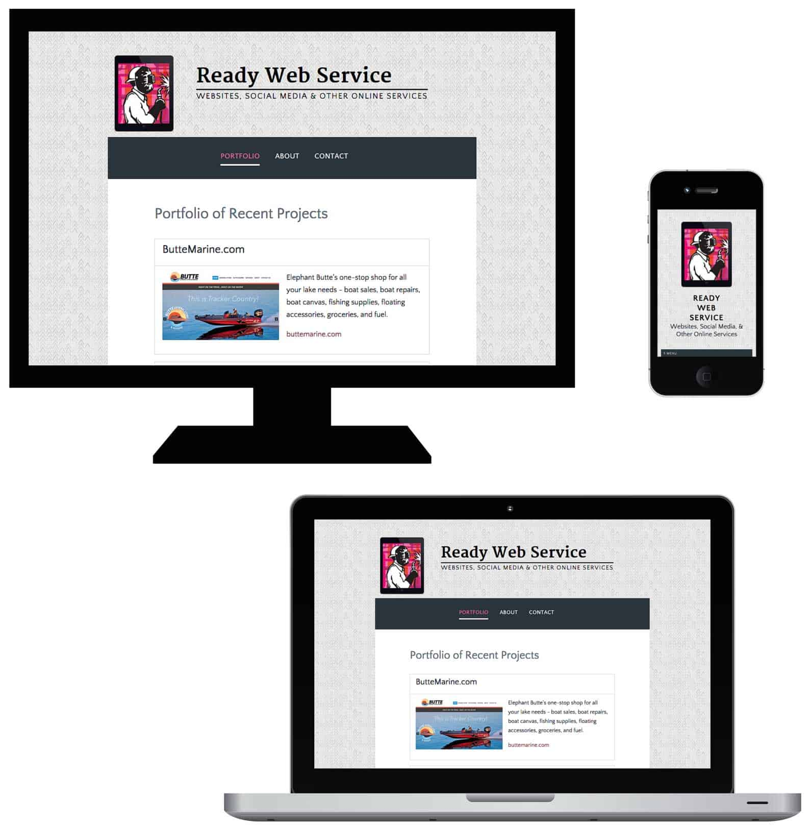 responsive web design by Ruanna Waldrum