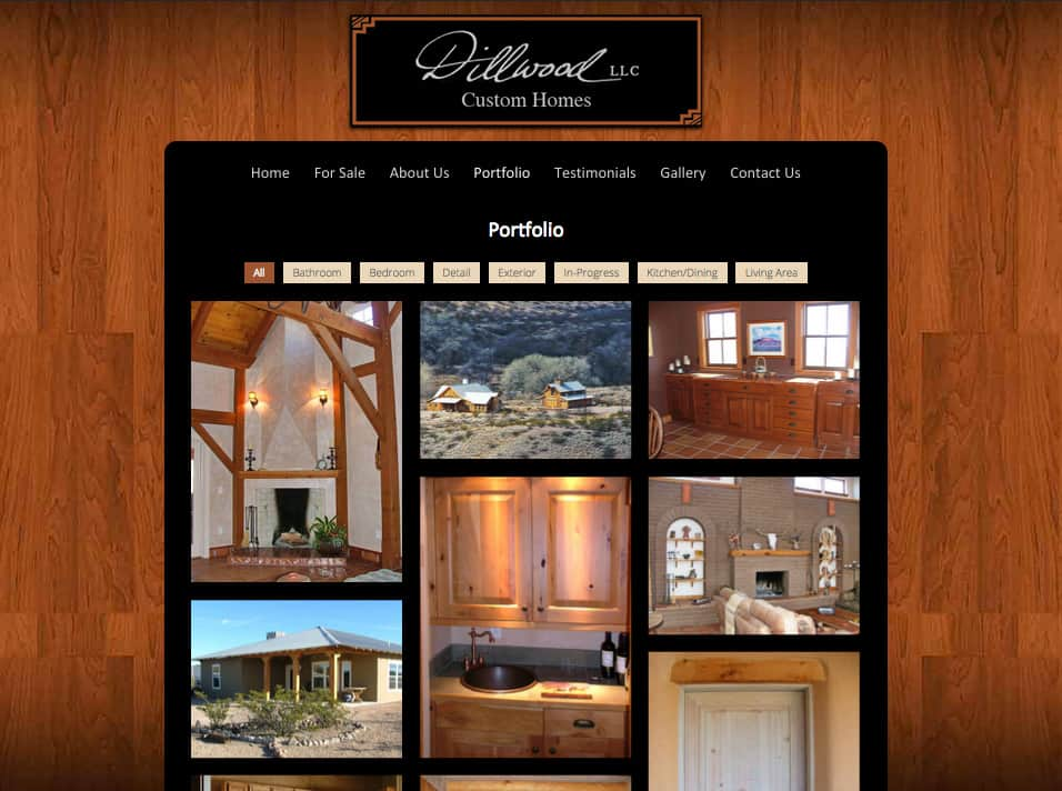 website design: Dillwood Construction, homebuilders in Sierra County NM