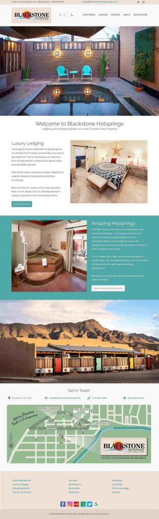 website for Blackstone Hot Springs