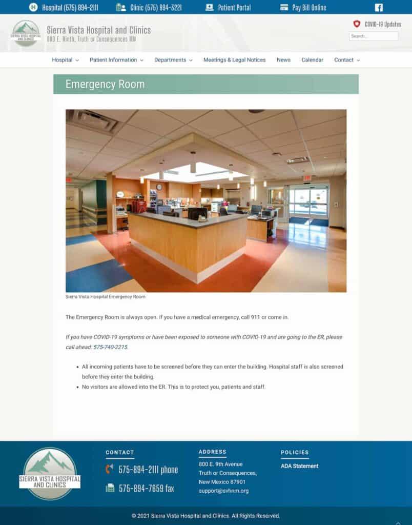 website design: SVHNM.org