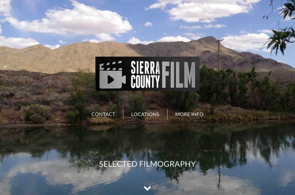 website design: SierraCountyFilm.com