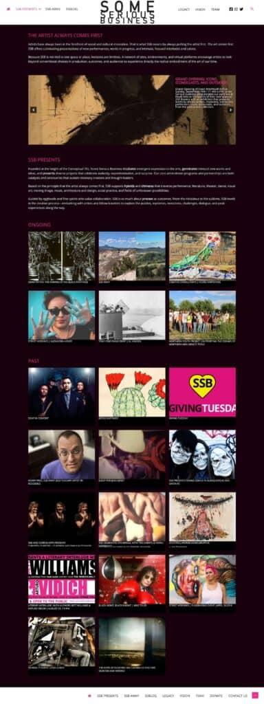 website for SomeSeriousBusiness.org