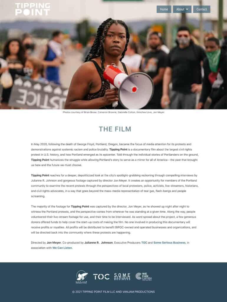 website for TippingPointFilm.com